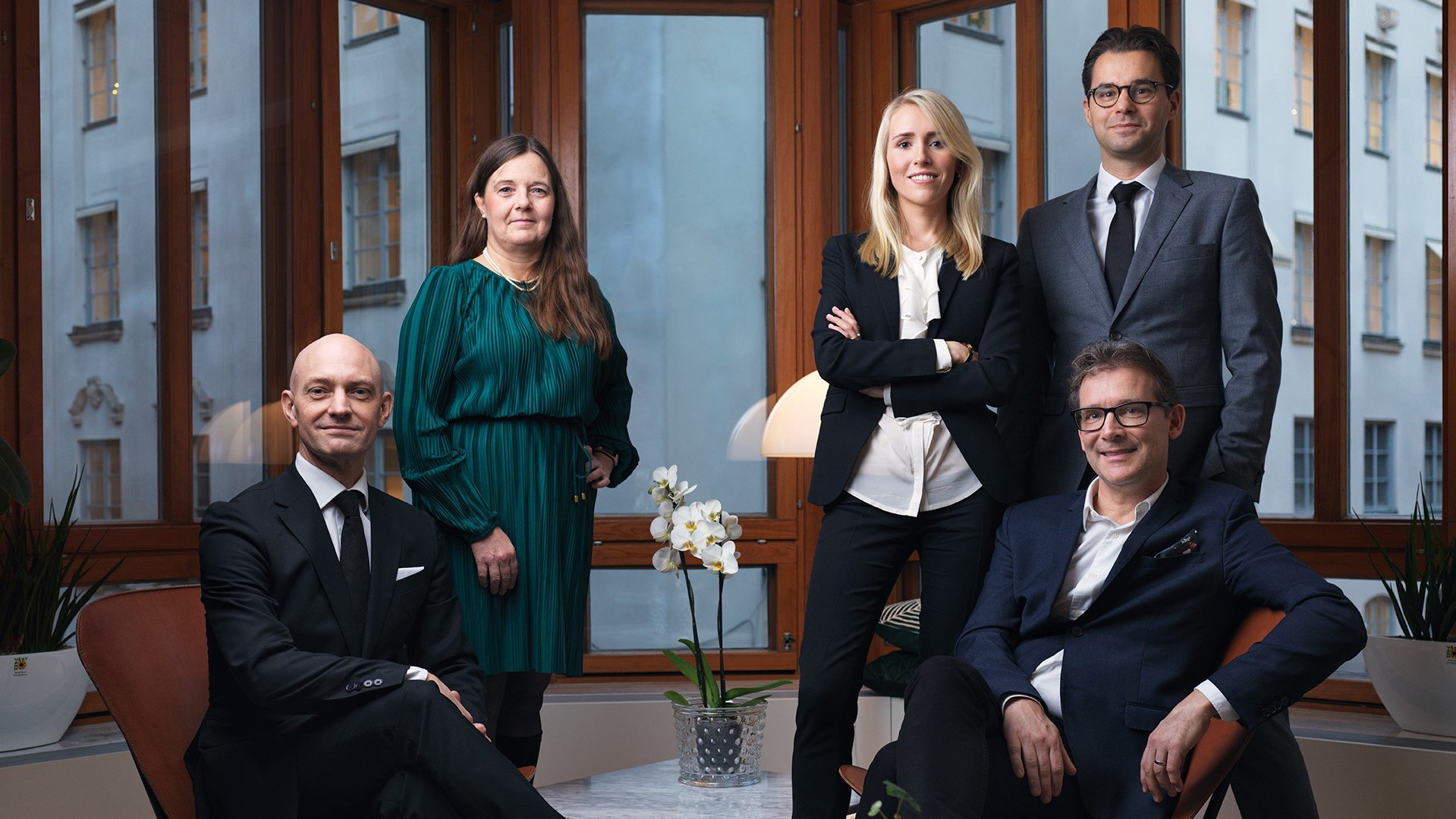 Pär Löfving, Ylwa Häggström, Anna Dahlstedt, Andreas Mattson och Filip Boman